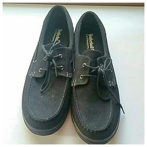 Timberland black mens boat shoes