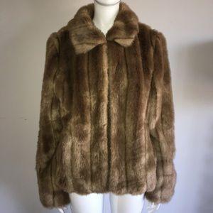 Ann taylor faux fur coat
