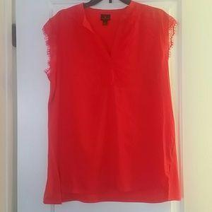 Silky red/orange blouse
