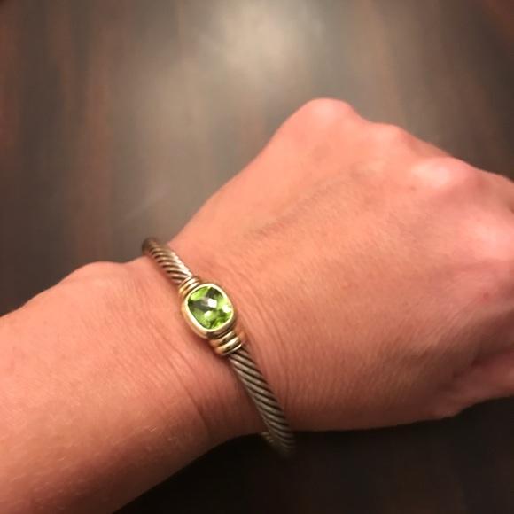 e7e1d108082b6 David Yurman Jewelry - Women s David Yurman cable noblesse peridot cuff