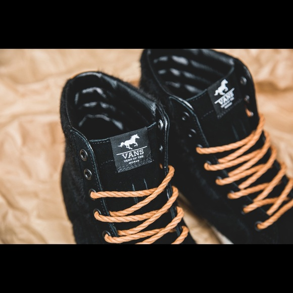 Vans Shoes - Rare calfhair vans SK8-hi sneakers 97b613eb7