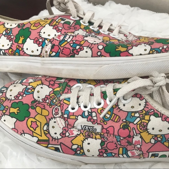 VANS- Limited edition Hello Kitty sneakers. M 5a1057647f0a05a69501c576 53b964b70