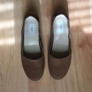 9590fe729ef UGG® Australia Cicily Tan Leather Espadrille Flats NWT