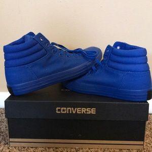 All blue men's converse