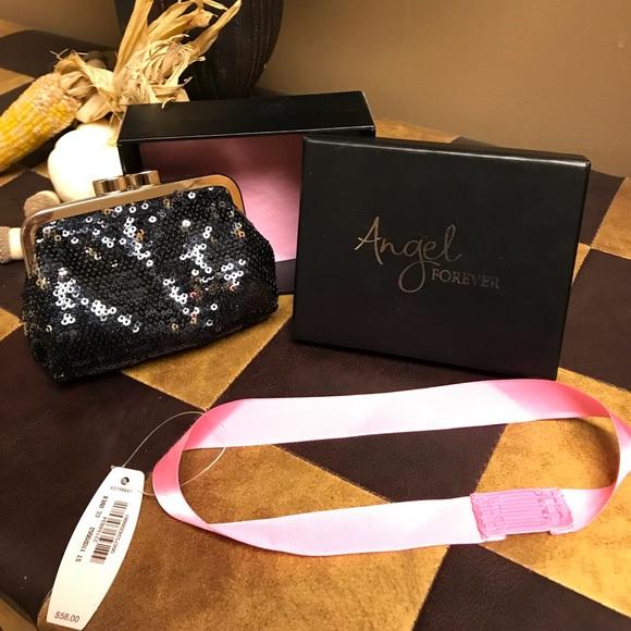 fdcb24513e3 Victoria's Secret Bags   New Rare Vs Angel Forever Sequin Coin Purse ...