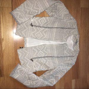 Zara jacket - embroidery detail