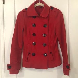Lovely red peacoat from H&M
