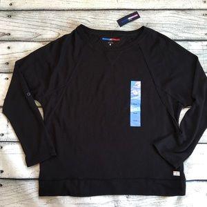NWT Tommy Hilfiger sport black light sweatshirt L