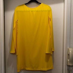 Zara bell sleeve slit dress