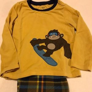 NEW LISTING! Boy's 2pc Fleece Gorilla Pajamas