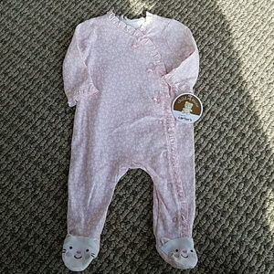 Put yourbundle of joy in this sweet pink suit!