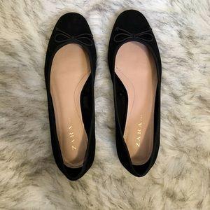 Black Zara Ballet Flats, Size 6