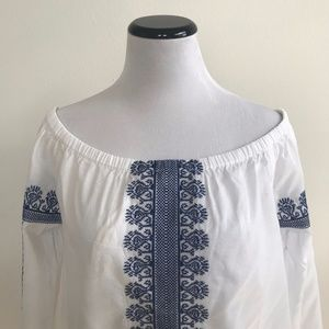 Madewell : folktale off-the-shoulder top NWT