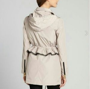 BETSEY JOHNSON PEPLUM LACE ANORAK TRENCH LINED NWT