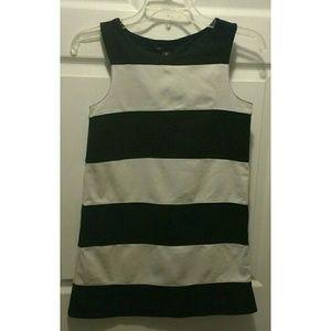 GAP Kids black & white striped dress, size XL