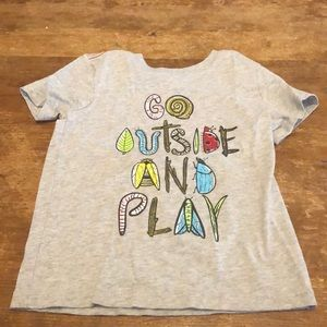 """Boy's """"Go outside and play"""" T-shirt"""