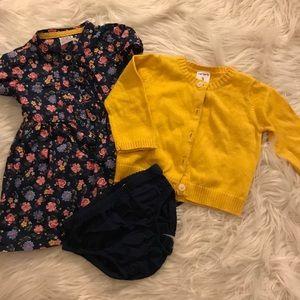 Other - Baby Girls Sweater& Dress &Bloomer Set 3mo