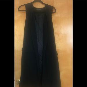 Zara long sleeveless blazer cardigan