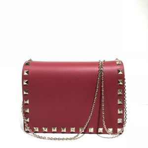Valentino Rockstud Evening Red Cross Body Bag
