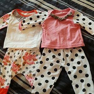 3 cute 6 mo baby girl clothes
