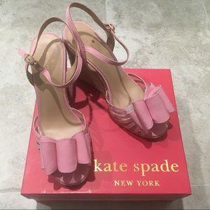 Kate Spade Biana Carousel Pink Grosgrain bow