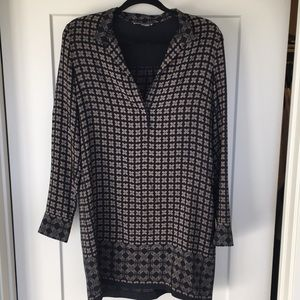 Vince silk shirt dress size 6