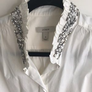 J.crew jewel collar sleeveless button up   NWOT