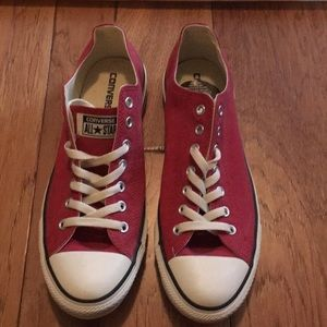 Converse All-Star red sneakers. New. Size 10.5 men