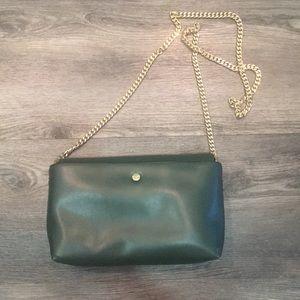 Zara Pine Green with Goldchain handbag