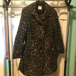 Leopard pea coat - LONG 💓 - great condition