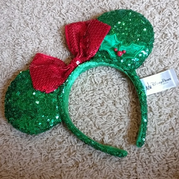 disney christmas mickey ears headband - Disney Christmas Ears