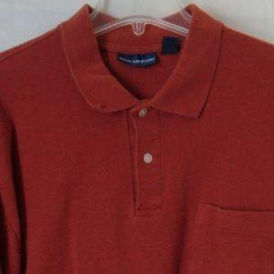 John Ashford Rust Pull Over Knit Shirt XL #38