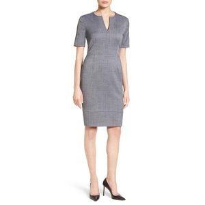 NWT Hugo Boss Dalesana Gray Wool Blend Dress Sz 8