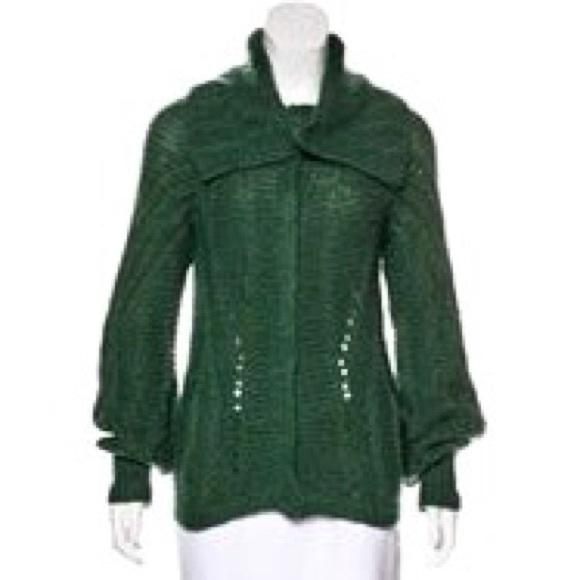 16% off Piazza Sempione Sweaters - Piazza Sempione Green Angora ...