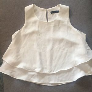 White Zara swing top XS