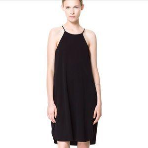 Zara Black Halter Dress ( L)