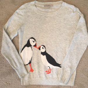 LOFT snow Bird sweater