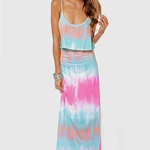 Never Say Tie-Dye Blue Maxi Dress OUT OF STOCK!