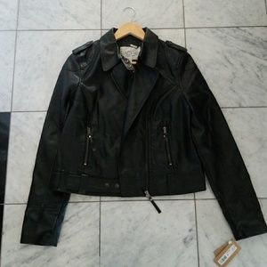 Rachel Roy Faux-Leather Moto Jacket