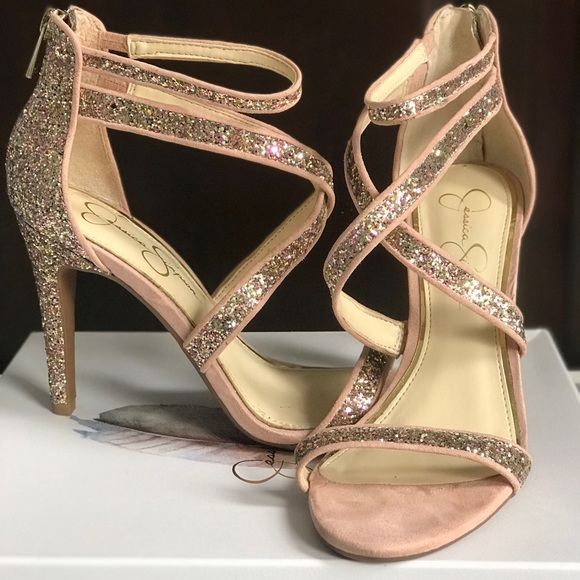 Jessica Simpson Champagne Heels