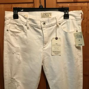Lucky Brand Brooke capri white jeans size 30