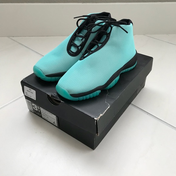 quality design 89a87 6b1ab Nike Jordan Future Kid Shoes Size 3.5Y Turquoise
