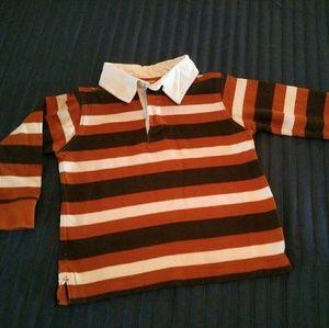 Orange Striped Gymboree Rugby Shirt Boys 3t