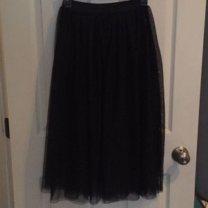H&M Tulle-Like Midi Skirt