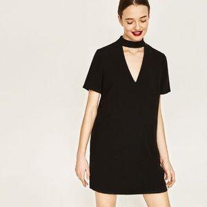 Zara Black Chocker Dress ( XL)