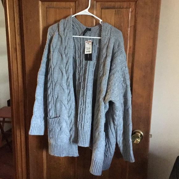Moon Madison Sweaters Cable Knit Cardigan Poshmark