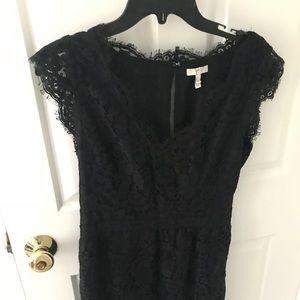 Joie Black Lace Dress sz M