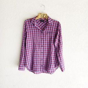 J. Crew Boy Shirt in Purple Twilight Plaid