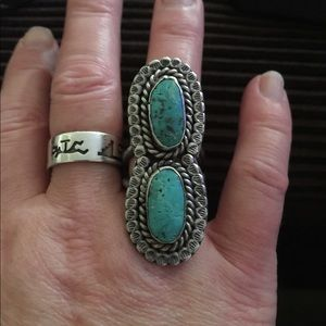 Navajo Native Sterling Silver Turquoise Ring