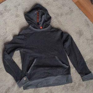 BOSS ORANGE charcoal gray cotton sweatshirt hoodie